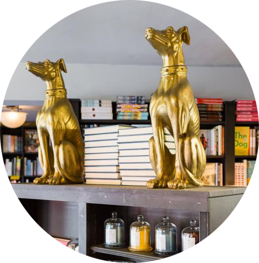 Picture of Book Soup's Golden Dogs
